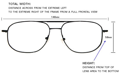 Eyeglass Frame Sizes Explained : Eyeglasses Frame Dimensions, Frame Sizes, Eyeglasses ...