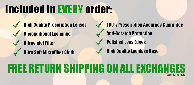 Eyewear includes