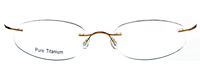 Rimless Titanium Eyeglasses Shape12