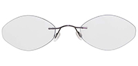 Rimless Titanium Eyeglasses Shape14