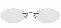 Rimless Titanium Eyeglasses Shape21