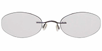 Rimless Titanium Eyeglasses Shape25