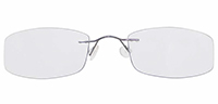 Rimless Titanium Eyeglasses Shape9